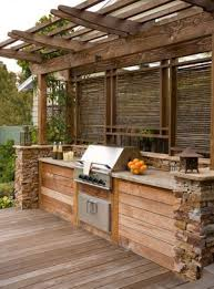 Pre Built Pergolas by 13 Built In Grill Island With A Pergola Over It Shelterness