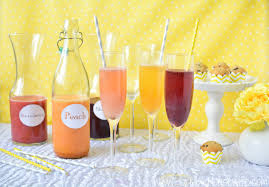 how to create a fruity mimosa bar for showers and girls night