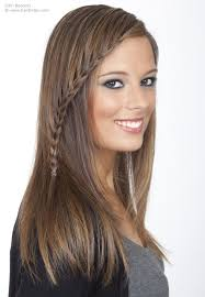 braided hairstyles for thin hair long sleek hair with a long thin braid