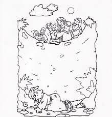 joseph coloring sketch coloring kids