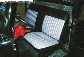 replacement bench seat for 48 f 1 ford truck enthusiasts forums