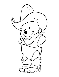 winnie pooh cowboy coloring pages kids gcf printable