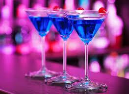 blue martini blue martini colorido cóctel cocina y vino
