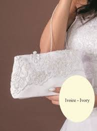 pochette blanche mariage pochette mariage dentelle blanche ou écru pas cher acc0214
