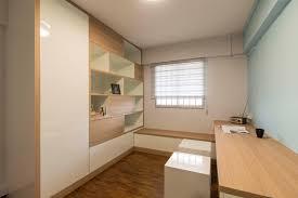 hdb 3 rooms modern contemporary design living with dark grey