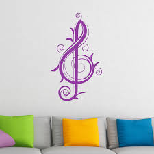 fancy teble clef musical wall sticker world wall stickers