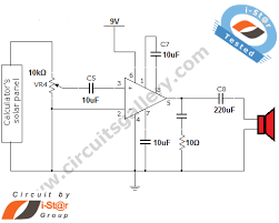 laser communication project circuit schematic using laser diode