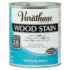 Home Depot Wood Stain Colors by Varathane 1 Qt 3x Vintage Aqua Premium Wood Stain 287754 The
