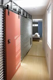 Metal Sliding Barn Doors Dc Metro Metal Sliding Doors Hall Industrial With Green