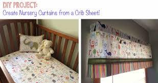 Diy Nursery Curtains Diy Project Curtains From A Crib Sheet Bugaboocity