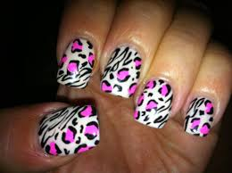 pink leopard zebra nail art youtube pictures of zebra nail