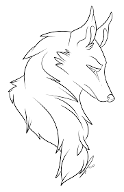wolf bust lines by jaclynonacloudlines on deviantart