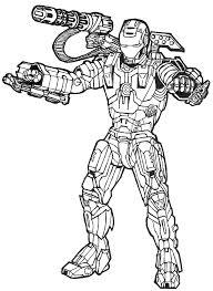 Iron Man 42 Superhéros  Coloriages à imprimer