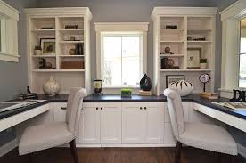 dual desk office ideas dual desks home office home office traditional with built in desk