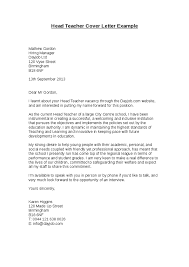 head teacher cover letter example hashdoc