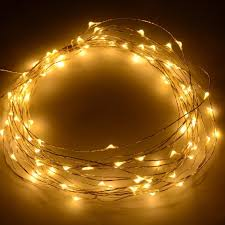 12v dc 10m 33ft 100 warm white micro drop led string fairy light