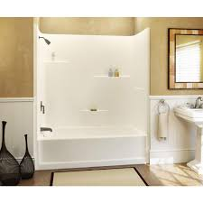 bathroom showers home depot victoriaentrelassombras com aquatic 60 in x 30 in x 72 in 1 piece direct to stud tub shower