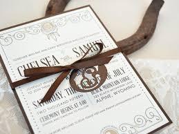 western wedding invitations twelve30 creative vintage western wedding invitation western