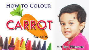 how to colour a picture of carrot for kids by nisaar youtube