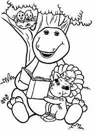 barney book baby bop coloring pages place