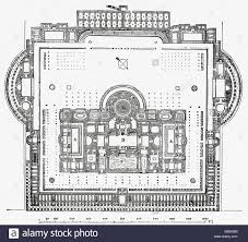 floor plan of the baths of caracalla stock photo royalty free