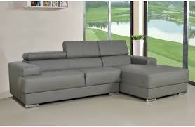 Grey Leather Sectional Sofa Zelma Grey Leather Sectional