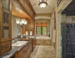 Rustic Master Bathroom Ideas - rustic master bathroom with raised panel by touch of class 1