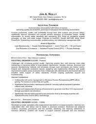 resume formats for engineers exle industrial engineering careerperfect