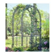 Trellis Arches Garden Garden Arbor W Gate Bronze Iron Trellis Arch Archway Patio Lawn