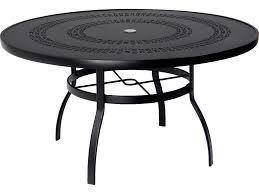 woodard deluxe aluminum 54 round trellis top table with umbrella