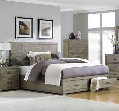 Platform Bed Drawers Abbott Driftwood Platform Bed W Drawers By Homelegance
