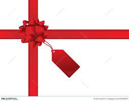 christmas gift bow christmas bow and gift card illustration 6548287 megapixl
