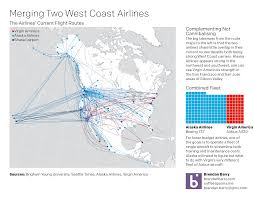 Alaska Flight Map by Airlines U2013 Coffee Spoons