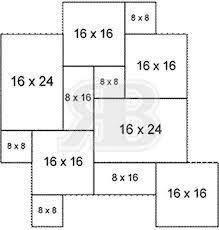 squares rectangles tile design pattern layout patio