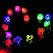 Flower String Lights by Battery Powered Holiday Lighting 20 X Led Novelty Rose Flower