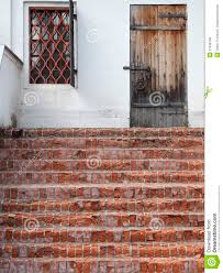 Brick Stairs Design Traditional Porch With Brick Stairs And Locked Wooden Door