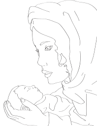 mary and baby jesus coloring page u2013 miniature masterminds