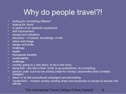 why do people travel images Special interest tourism appeal and motivation factors jpg
