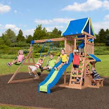 Backyard Discovery Montpelier Cedar Swing Set Wooden Swing Set Ebay