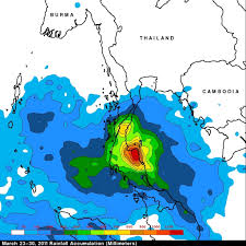 Mexico Precipitation Map by Trmm Satellite Sees Deadly Rainfall Over Thailand
