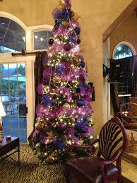 purple tulle ribbon garland ornament tree topper