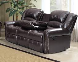 Reclining Sofa With Center Console 27 Leather Reclining Loveseat With Center Console Reed Burgundy