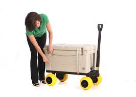 Outdoor Cooler Cart On Wheels by Cooler Cart Ice Chest Box Carrier Wagon With And 50 Similar Items