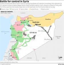 Syria On A Map by Syrian Forces Threaten To Fight Back After U S Military Strikes