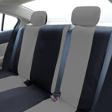 nissan versa back seat amazon com fh group fh fb050114 flat cloth car seat covers gray
