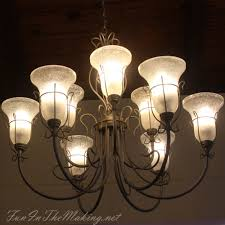 Antique Chandelier Globes Chandelier Make Over When Switching To Energy Efficient Light