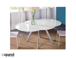 foldable round dining table the butterfly expandable round glass dining table round glass