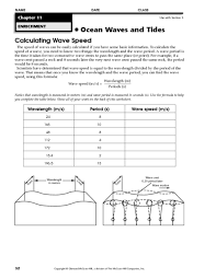 calculating wave speed worksheet free worksheets library