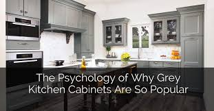 gray walls with stained kitchen cabinets the psychology of why gray kitchen cabinets are so popular