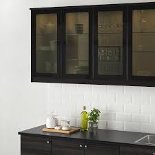glass kitchen cabinet doors only jutis glass door smoked glass black 18x30